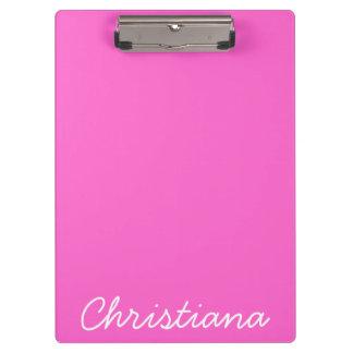 Tablero conocido personalizado rosa