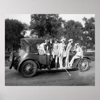 Tablero corriente Bling: 1920 Póster