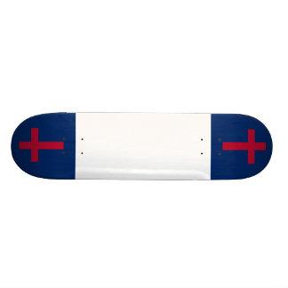 Tablero cristiano de la bandera tabla de patinar