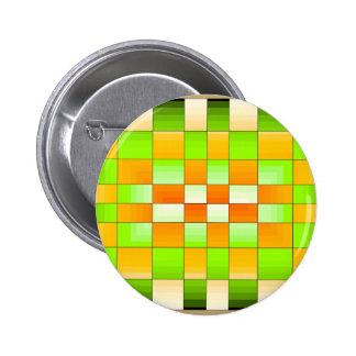 Tablero de ajedrez amarillo y verde de la ilusión  pins