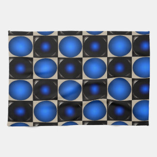Tablero de ajedrez azul de la ilusión óptica Crick Toallas
