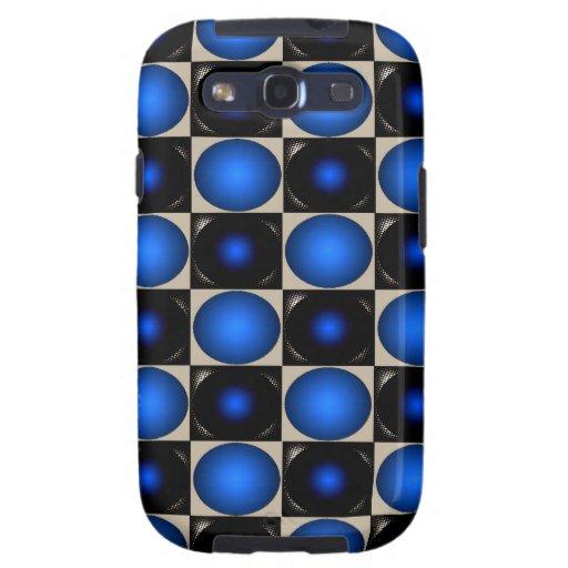 Tablero de ajedrez azul de la ilusión óptica funda para galaxy s3