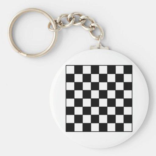 Tablero de ajedrez B&W los regalos de Zazzle del M Llaveros Personalizados