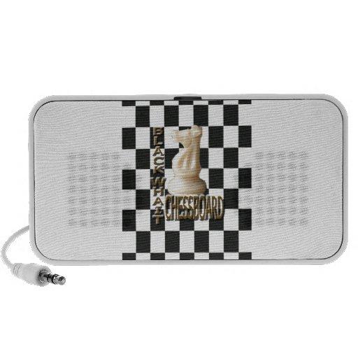 Tablero de ajedrez blanco negro mp3 altavoz
