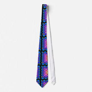 Tablero de ajedrez colorido de la ilusión óptica corbata