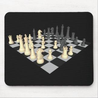 Tablero de ajedrez con los pedazos de ajedrez - Mo Alfombrilla De Ratones