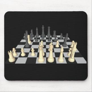 Tablero de ajedrez con los pedazos de ajedrez - Mo Mouse Pad