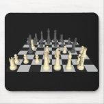 Tablero de ajedrez con los pedazos de ajedrez - Mo Tapete De Ratones