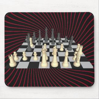 Tablero de ajedrez con los pedazos de ajedrez - Mo Tapetes De Raton
