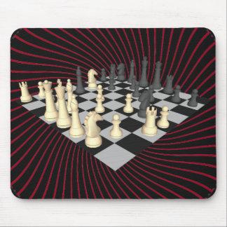Tablero de ajedrez con los pedazos de ajedrez: Mou Alfombrillas De Ratones
