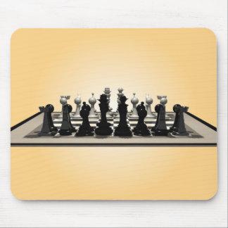 Tablero de ajedrez con los pedazos de ajedrez: Mou Mousepad