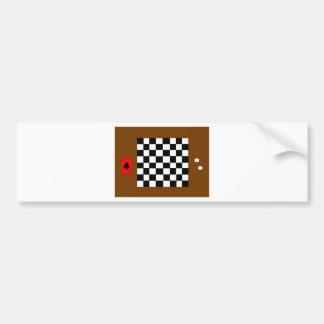 Tablero de ajedrez, dados y pegatina para el parac pegatina para auto