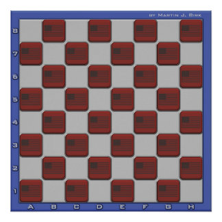 Tablero de ajedrez de los E.E.U.U. Impresiones