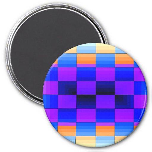 Tablero de ajedrez del color del espectro de la il imán de nevera