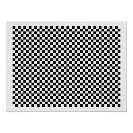 Tablero de ajedrez del inspector póster