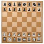 Tablero de ajedrez del OPUS Servilleta Imprimida