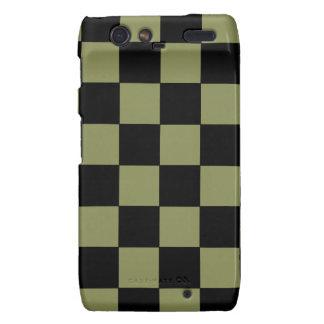 Tablero de ajedrez del tablero de damas del verde droid RAZR carcasas