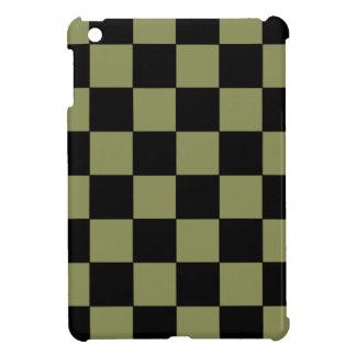Tablero de ajedrez del tablero de damas del verde iPad mini protector