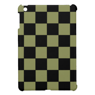 Tablero de ajedrez del tablero de damas del verde iPad mini cobertura