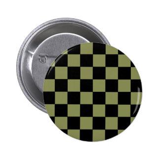Tablero de ajedrez del tablero de damas del verde  pins