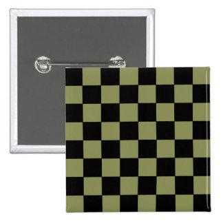 Tablero de ajedrez del tablero de damas del verde  pin