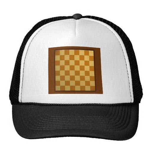 Tablero de ajedrez diario abstracto gorros bordados