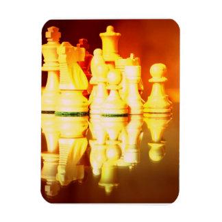 Tablero de ajedrez e imán del premio de los pedazo