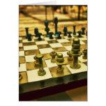 Tablero de ajedrez fresco con las nueces - y - per felicitación