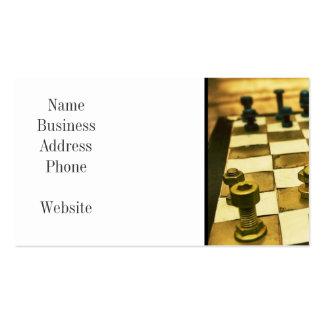Tablero de ajedrez fresco con las nueces - y - tarjetas de visita