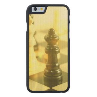 tablero de ajedrez funda de iPhone 6 carved® slim de arce