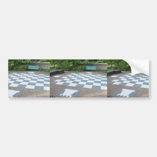 Tablero de ajedrez gigante en Canberra en Australi Pegatina De Parachoque