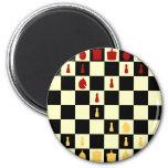 Tablero de ajedrez imanes de nevera