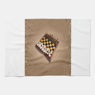 Tablero de ajedrez toallas de mano