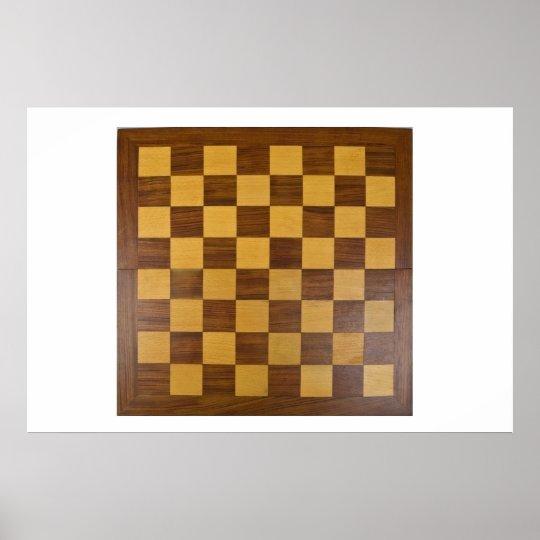 tablero de ajedrez póster