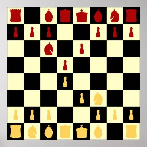 Tablero de ajedrez posters