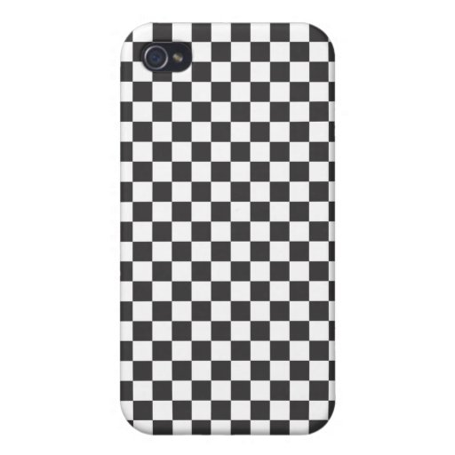Tablero de ajedrez puro iPhone 4 carcasa
