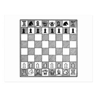 Tablero de ajedrez postales