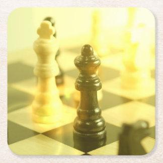 tablero de ajedrez posavasos desechable cuadrado