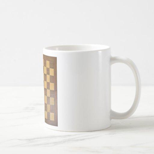 tablero de ajedrez tazas