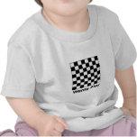 Tablero de ajedrez Wanta B&W los regalos de Zazzle Camisetas