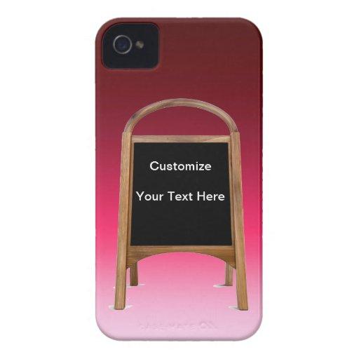Tablero de bocadillo de madera iPhone 4 Case-Mate cobertura
