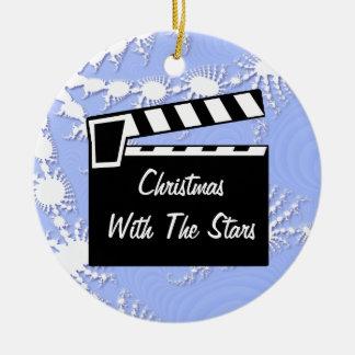 Tablero de Clapperboard de la pizarra de la pelícu Ornamento Para Arbol De Navidad