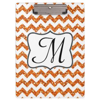 Tablero de clip anaranjado moderno de la inicial d