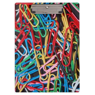 Tablero de clip coloreado multi