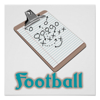 Tablero de clip del fútbol posters