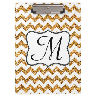 Tablero de clip moderno de la inicial del monogram