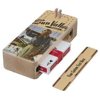 Tablero de Cribbage del viaje del vintage de Sun Cribbage De Arce