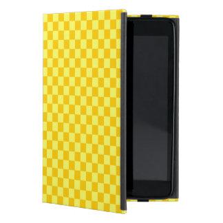 Tablero de damas amarillo de la obra clásica de la iPad mini carcasa