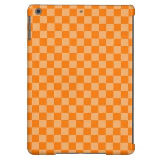 Tablero de damas anaranjado de la obra clásica de funda para iPad air