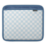 Tablero de damas azul y blanco en colores pastel manga de iPad